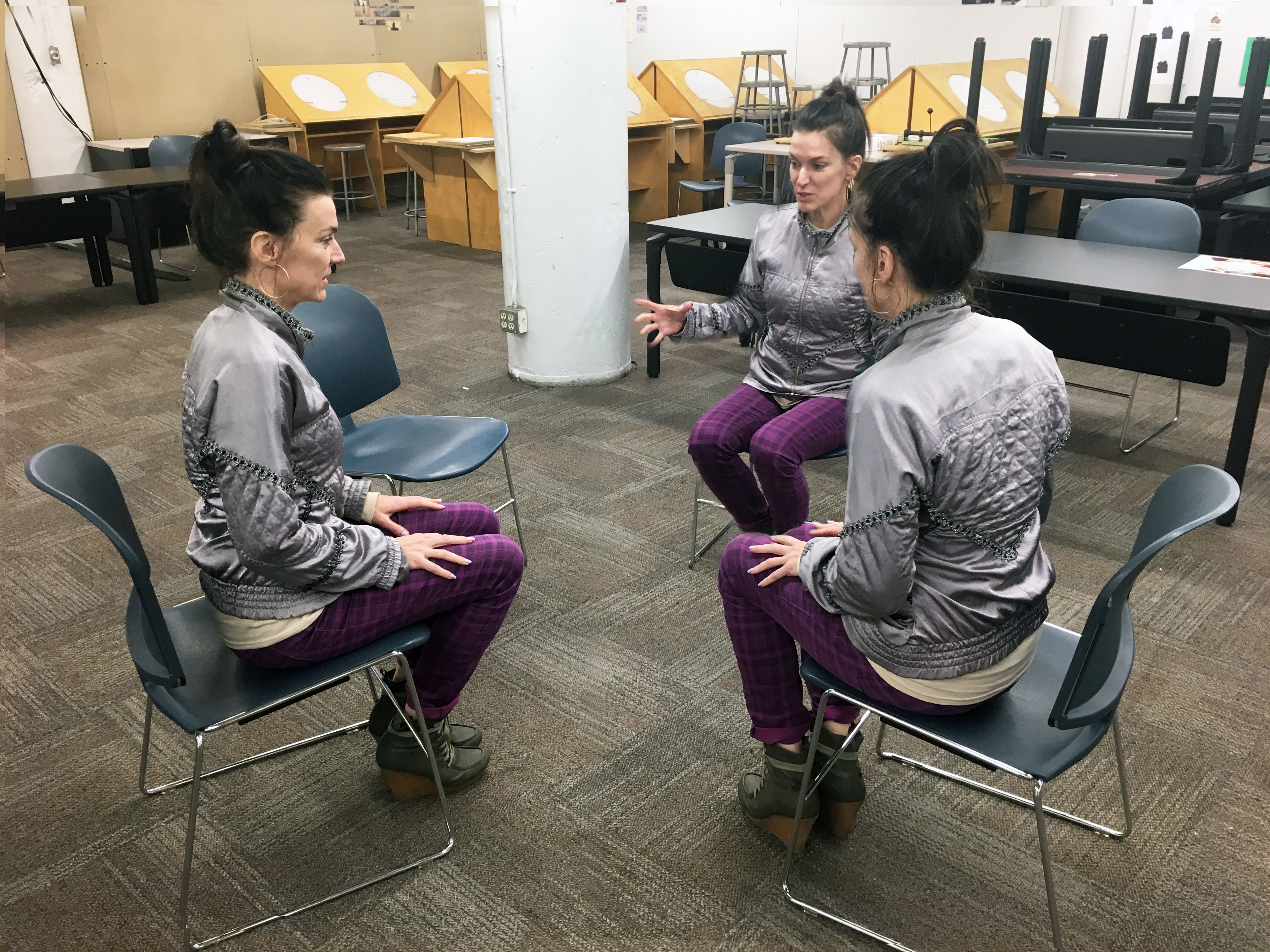 Kim 4 chairs 3 performers